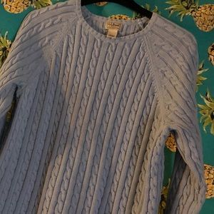 LL Bean cable sweater